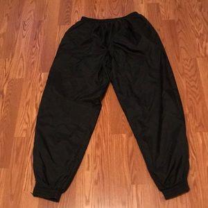 Men's Black Nike Track Pants Elastic Waist & Ankle